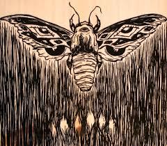 wood print moth wood print city