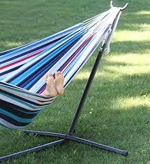 vivere double hammock u0026 9 u0027 steel stand tropical