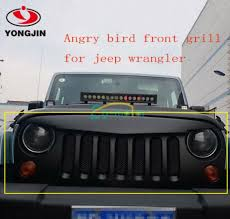 jeep wrangler front grill abs material off road car grill front bumper grille for jeep