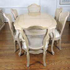 french provincial dining room furniture thomasville french provincial style dining table and six chairs ebth