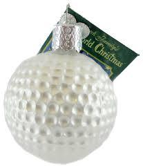 world golf glass ornament contemporary