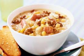crock pot corn and ground beef chowder recipe