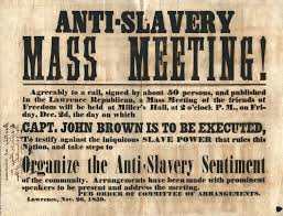 held on the day of john brown u0027s execution this anti slavery mass