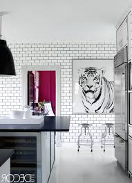 Black And White Laminate Floor Black And White Kitchens Kitchen Cabinets White Painted Wall Grey