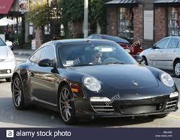 porsche california hilary swank out and about driving her black porsche 911 carrera