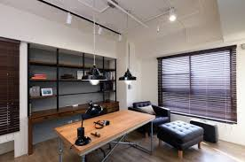 simple office design industrial home office designs for a simple and professional look