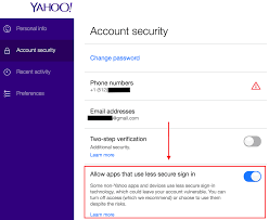 Yahoo Sign In Yahoo S Less Secure App Setting Context Io