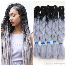 Light Brown Box Braids Stock Two Tone Color Synthetic Yaki Braiding Hair 2 Tone Ombre
