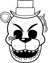 fnaf 2 coloring pages alltoys for