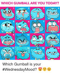Gumball Memes - which gumball are you today 10 11 12 13 15 16 which gumball is your
