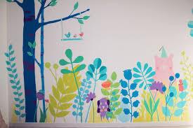 fresque chambre bébé fresque enfant forêt chambre bébé baby room mural room