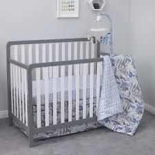 Dwell Crib Bedding Dwellstudio Safari Skies Blue And Grey Animal 3 Crib Bedding