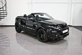 land rover evoque black convertible urban automotive evoque gallery