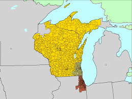 Upper Michigan Map by District 12 Arlinghaus Atlas Page
