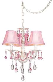 Pretty Chandeliers by Pretty In Pink Swag Style Plug In Mini Chandelier Glo