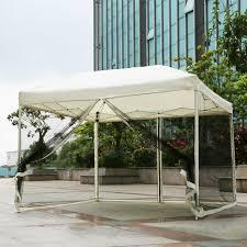 Outdoor Patio Canopy Gazebo Beige Ikayaa 3 3 2 6m Folding Outdoor Patio Canopy Gazebo Tent