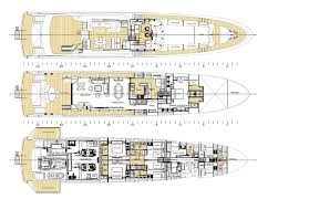 Luxury Yacht Floor Plans Burger 128 Yacht Concept General Arrangement U2014 Luxury Yacht