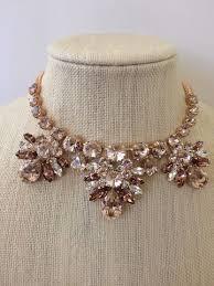 gold crystal bridal necklace images Rose gold bridal statement necklace the crystal rose bridal jpeg