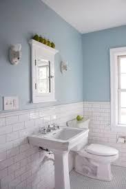 Knox Bathroom Blue Vanity White Subway Tile For Shower Penny - Blue bathroom 2