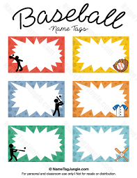 free printable baseball name tags the template can also be used