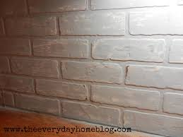 brick backsplash in kitchen budget friendly painted brick backsplash at the everyday home