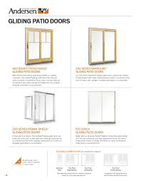 Andersen A Series Patio Door Andersen Brochure 400 200 100 Series Window Door Replacement 9046527
