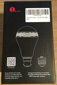 Led Light Bulb Reviews by Review 1byone Bluetooth Led Light Bulb With Speaker Geek