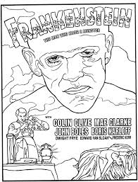 Halloween Frankenstein Coloring Pages Mostly Paper Dolls Too Frankenstein Coloring Page