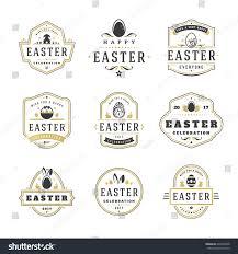 easter badges labels vector design elements stock vector 605994908