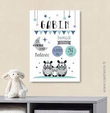 tableau chambre bébé affiche naissance bébé cadeau de naissance garçon personnalisé