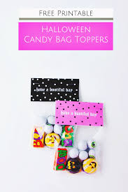 halloween candy bag free printable diy halloween candy bag toppers u2014 a charming project