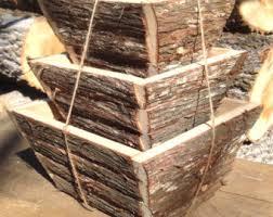 log flower box cedar planter wood planter box rustic