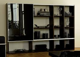pombol bookcase with black glass door bookcases modern furniture