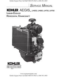kohler service repair manual aegis lh630 lh685 lh750 lh760 pdf