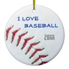 baseball tree ornaments keepsake ornaments zazzle