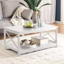 White Table For Living Room White Coffee Tables You Ll Wayfair