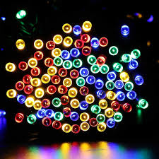 luckled e7z1uase 200 solar powered led string lights 72 ft multi
