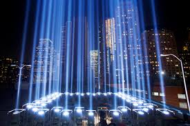 9 11 Memorial Lights Gallery Twin Towers Of Light Shine Over New York On 9 11