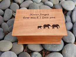 personalized wooden jewelry box personalized wooden jewelry box with an elephant family engraved