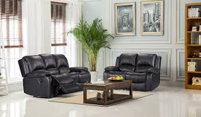 Leather Recliner Sofa 3 2 Vancouver 3 2 Bonded Leather Recliner Sofa Suite Black
