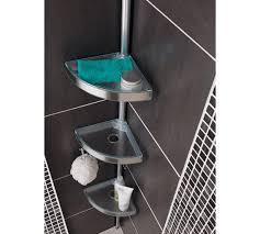 buy home floor to ceiling aluminium shower organiser pole at argos