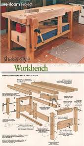 1083 best woodworking workbenches images on pinterest woodwork shaker workbench plans workshop solutions projects tips and tricks http