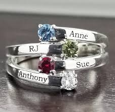 children s birthstone rings for mothers s ring birthstone ring family jewelry engraved