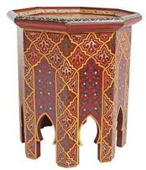 Moroccan Side Table Set Of 2 Moroccan Side Table With Mirrored Tops 138 135 S2