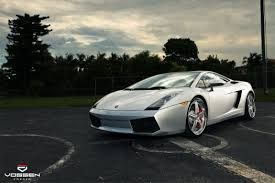 lamborghini custom sleek custom silver lamborghini gallardo on colormatched vossen