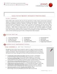Market Research Resume Examples by Elizabeth Harrington Resume June 2012