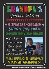 grandpa u0027s house rules blackboard design with photo with choice