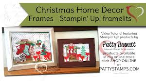 Home Decor Online Shops Christmas Home Decor Frame With Stampin U0027 Up Framelits Patty