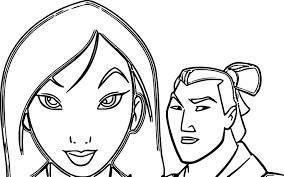 mulan coloring pages wecoloringpage