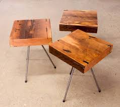tripod end table grain designs